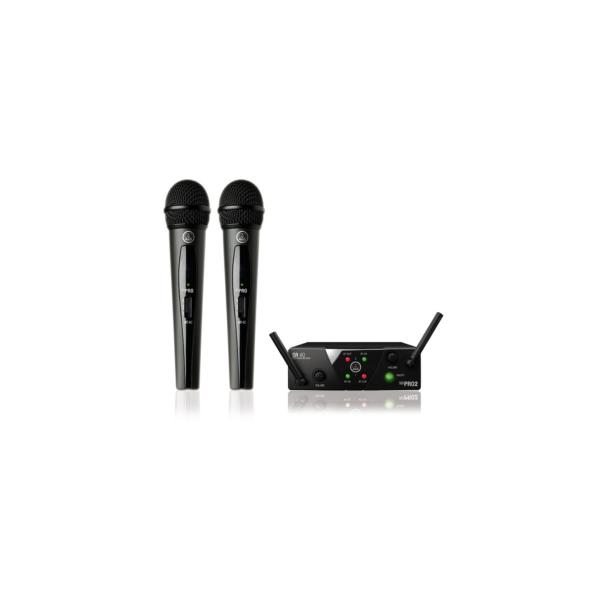 AKG WMS40 Mini Dual Vocal Set ISM2 et ISM3 lot de 2 micros main sans fil HF