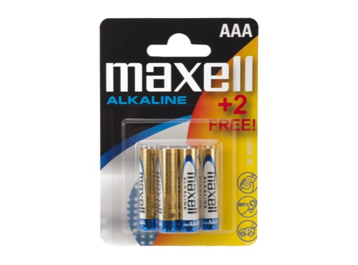 MAXELL Piles alcalines LR03 AAA 1.5V - Pack 4+2