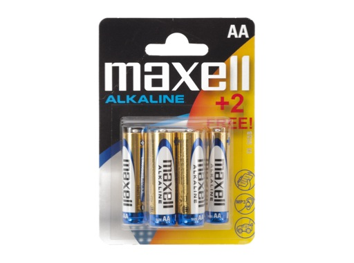 MAXELL Piles alcalines LR06 AA 1.5V - Pack 4+2