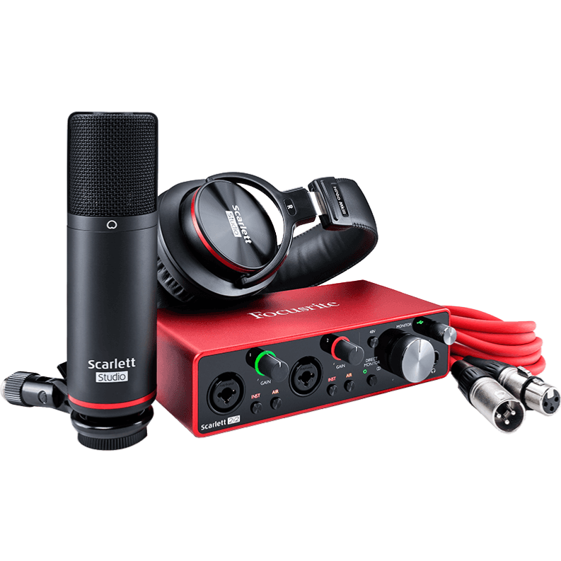 Focusrite SCARLETT 3 STUDIO pack home studio carte son usb + casque + micro + câble