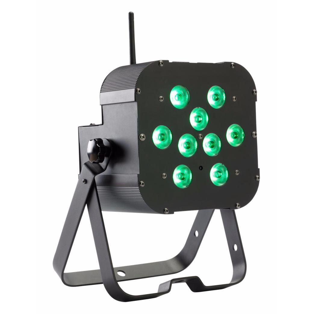 contest airled 9x3tcb projecteur led 9x 3w rgb airdmx sur batterie. Black Bedroom Furniture Sets. Home Design Ideas