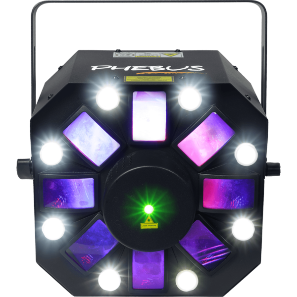 Algam Lighting PHEBUS jeu de lumière 3 en 1  Led Derby Strobe Laser