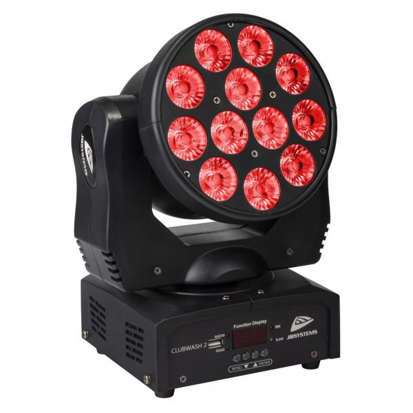 JB SYSTEMS CLUBWASH 2 projecteur lyre wash led 12x 12W RGBWAUV 6 en 1