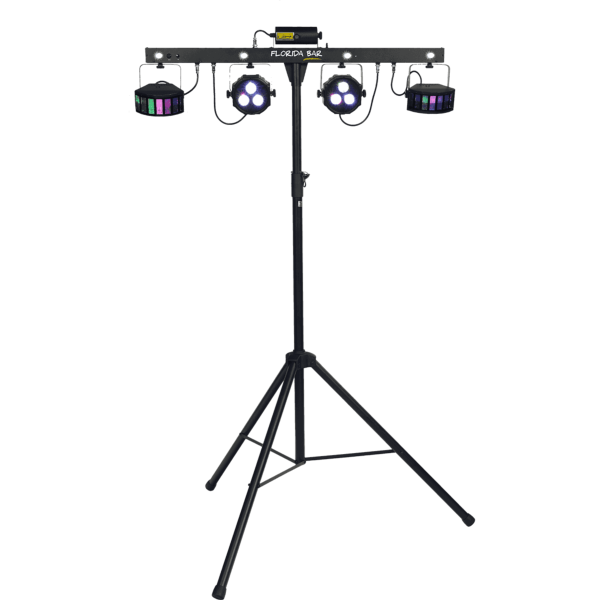 Algam Lighting FLORIDA BAR Barre de projecteurs Led PAR + Derby + Laser + Pied + pédalier