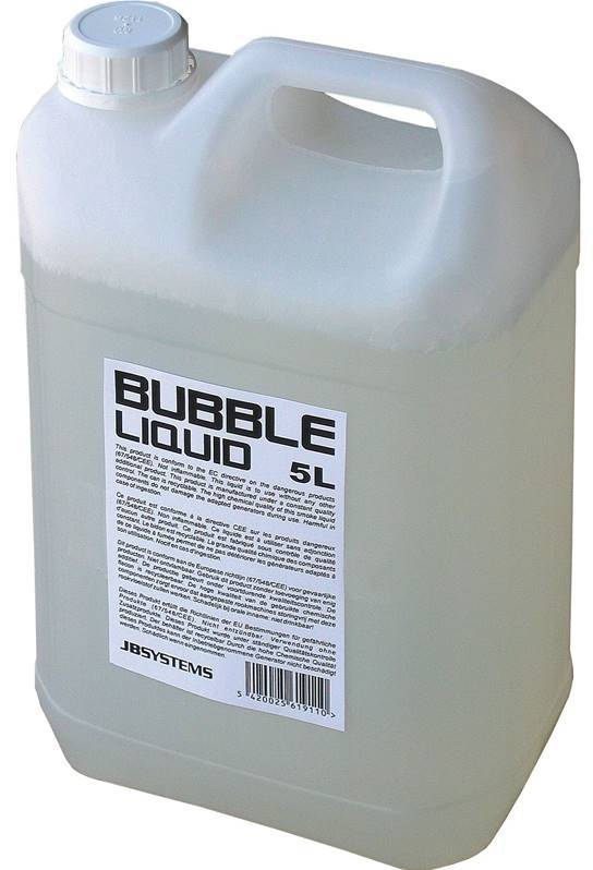 JB SYSTEMS BUBBLE LIQUID 5L Liquide pour machine à bulles, 5L