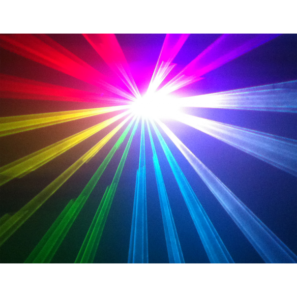 IBIZA Light SCAN500 RGB Laser d'animation avec DMX 500mW RVB