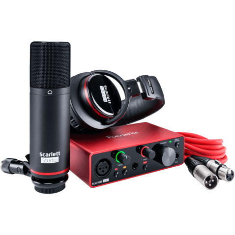 Focusrite SCARLETT 3 SOLO STUDIO pack home studio carte son usb + casque + micro + câble