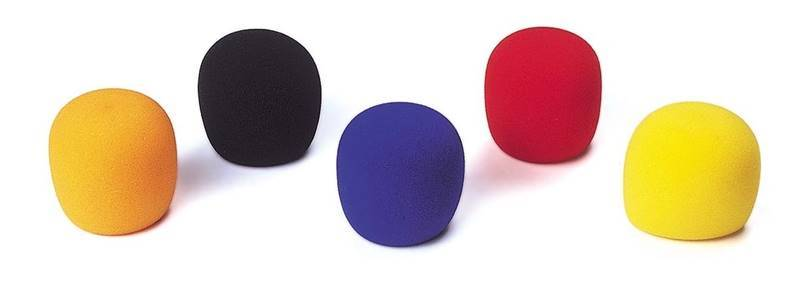 JB SYSTEMS WINDSCREEN colorés (5 pcs) Ensemble de 5 mousses pour micro différents coloris