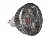 JB SYSTEMS LED-MR16-3x1W-WW-30D Ampoule Led MR16, 3x1W blanc chaud, 30°