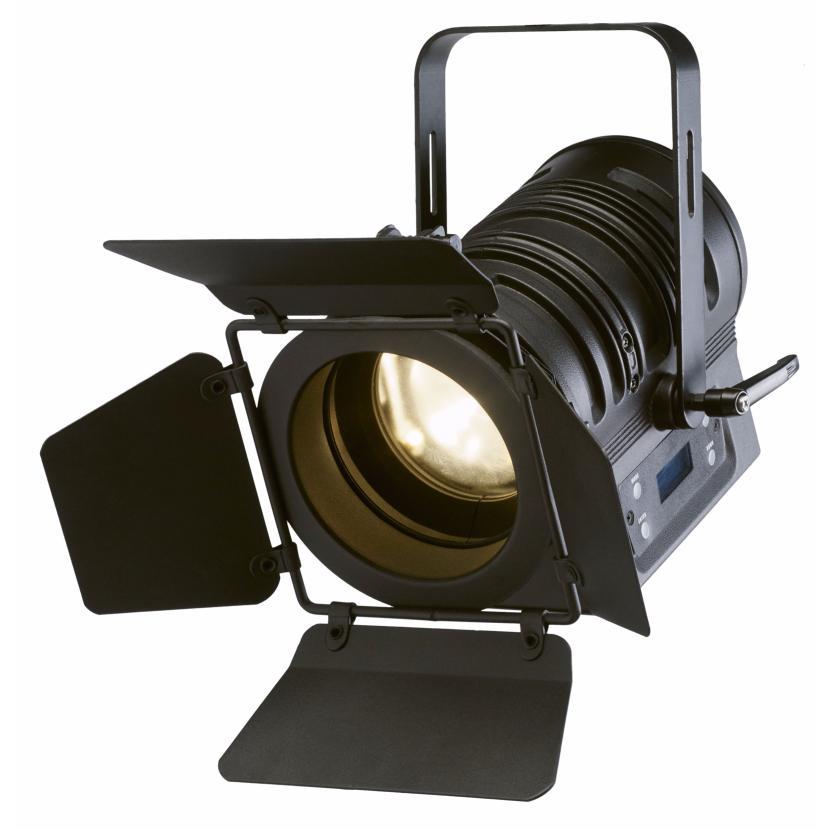 contest sfx pc50wb projecteur pc plan convexe led cob 50w blanc chaud zoom manuel finition noire. Black Bedroom Furniture Sets. Home Design Ideas
