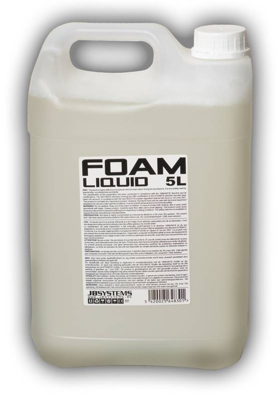 JB SYSTEMS FOAM LIQUID CC 5L Liquide concentré pour machine à mousse, 5L