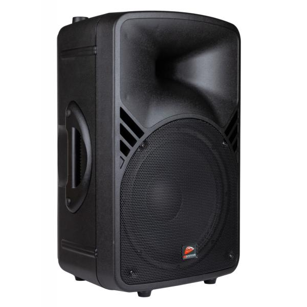 "JB SYSTEMS PPA 122 Enceinte portable filaire 12"" 250W RMS MP3, FM radio, Bluetooth, 2mic + 1line in"