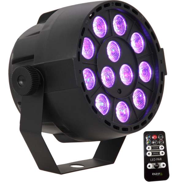 IBIZA Light PAR MINI RGB3 projecteur PAR à led 12 x 3W RVB 3en1