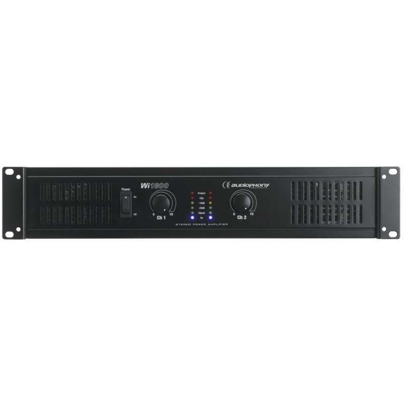 audiophony wi1800 amplificateur sonorisation 2x 600w rms sous 8 ohms. Black Bedroom Furniture Sets. Home Design Ideas