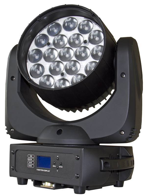 BRITEQ BT-W19L10 ZOOM Projecteur Lyre Wash Led 19x 10W RGBW zoom 10-60deg