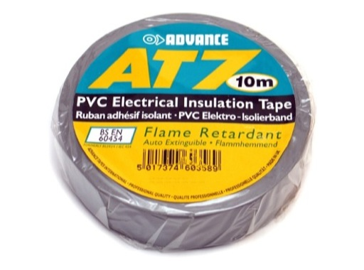 ADVANCE Adhésif PVC TAPE 15mm x 10m coloris gris AT7