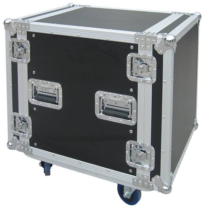 JV CASE RACK CASE 12U Flight-Case universel rack 12U avec roulettes