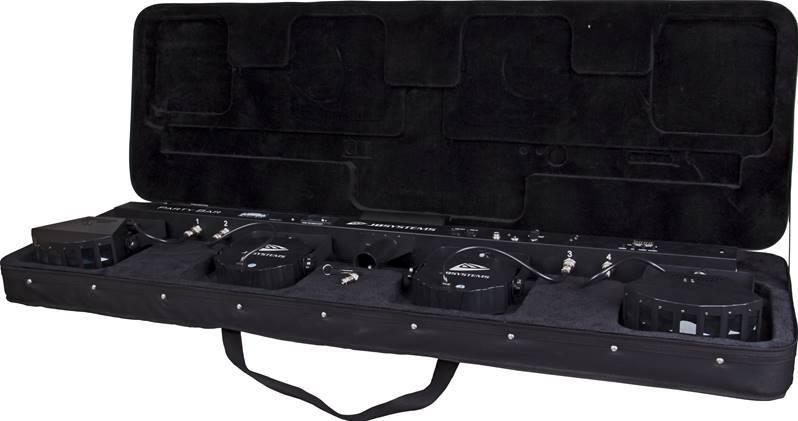 jb systems party bar barre jeux de lumi re dj quip de 4 effets projecteur led rgb derby laser. Black Bedroom Furniture Sets. Home Design Ideas