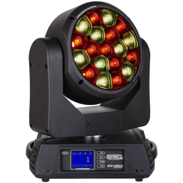 BRITEQ BTX-CIRRUS Projecteur Lyre Wash Led 19 x 30W RGBW zoom 4 à 60° matriçable