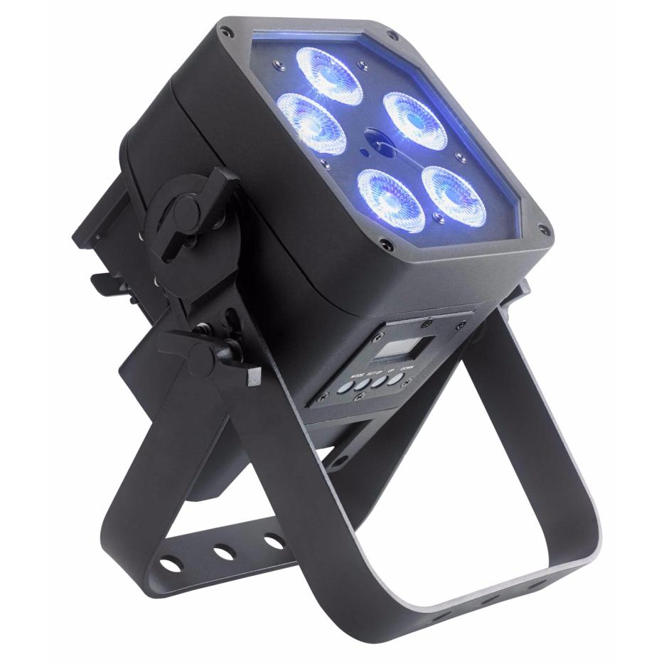 CONTEST IPair5x12Six Projecteur LED 5x 12W 6 en 1 IP65 AirDMX sur batterie