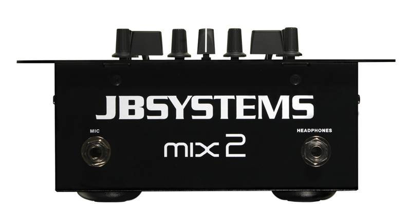 JB SYSTEMS MIX2 Table de mixage DJ, 2faders (4line, 2line+2phono, 1mic)