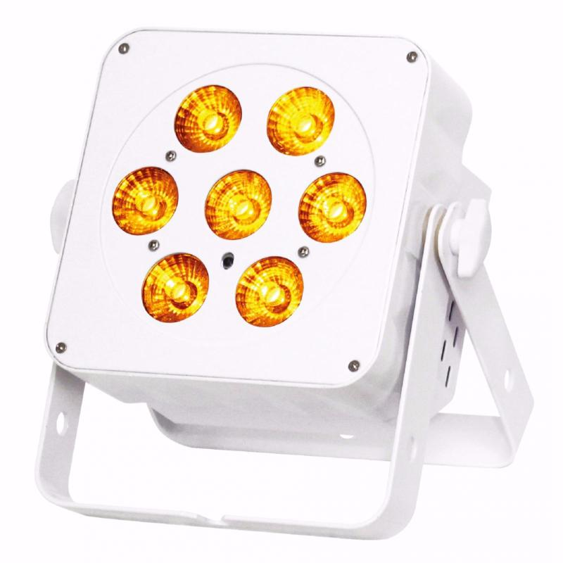 JB SYSTEMS Led Plano 7FC - coloris blanc - Projecteur 7x 8W RGBW