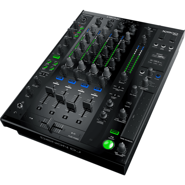 Denon DJ X1800 PRIME  table de mixage 4 voies, 2 USB Audio, DSP 12 effets