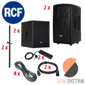 location enceinte sono pack 6 rcf hd 10-a sub 8003-as magasin sono lille seclin lens arras douai